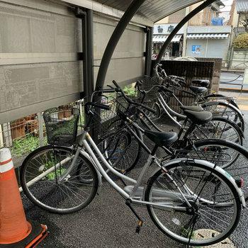 自転車置場もありますので、サイクリングしましょう!