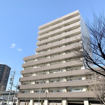 11階建ての鉄筋コンクリートマンションです。