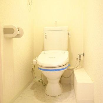 トイレはゆったりしていました。