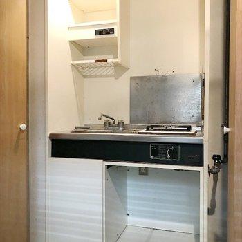 扉をあけると、キッチンを発見!