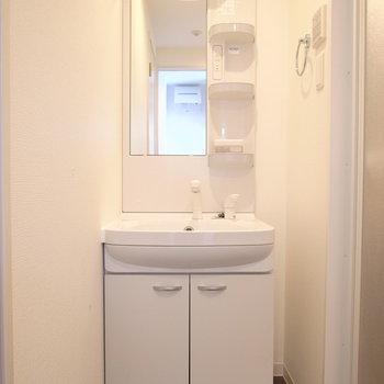 独立洗面台もしっかりと。