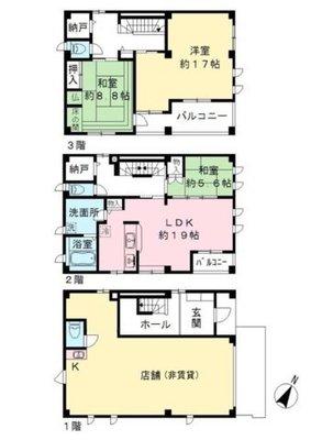 松崎ビル2~3階住居 の間取り