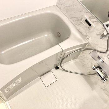お風呂はしっかり浸かれそうな大きさ。
