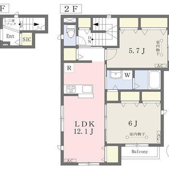 2階はこの部屋だけ