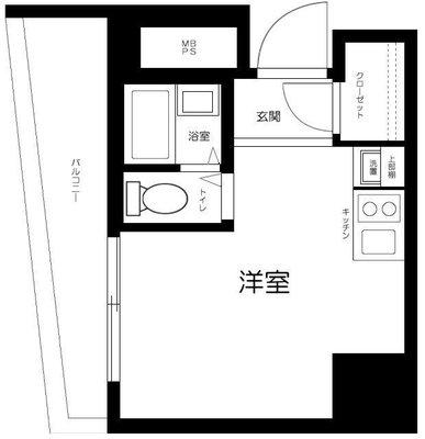 クレベール西新宿フオレストマンションの間取り