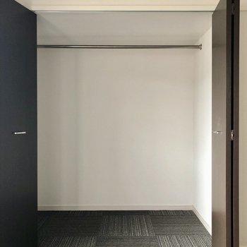 洋室にも大きめサイズの収納。(※写真は清掃前のものです)