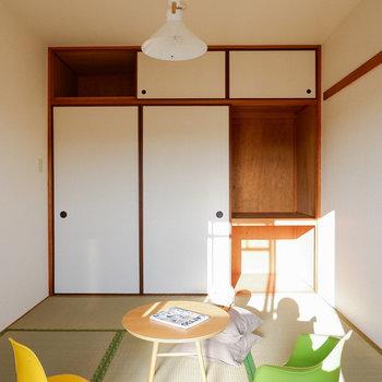 【和室】寝室としても使いやすそうです。※写真は3階の同間取り別部屋のものです