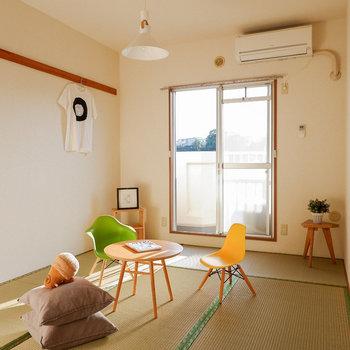 【和室】和室はお子さんのお茶会の場にしても良さそう。※写真は3階の同間取り別部屋のものです