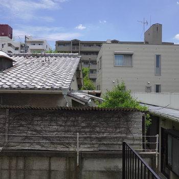 正面の眺望は隣家。