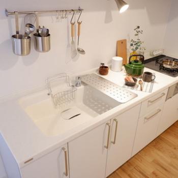 【イメージ】人工大理石天板のキッチン!※3口IHになります
