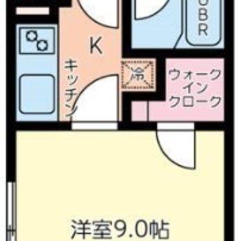キッチンはドアで仕切ることができます。匂いが他の部屋に移ることを防げますね。