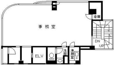 錦糸町 29.76坪 オフィス の間取り
