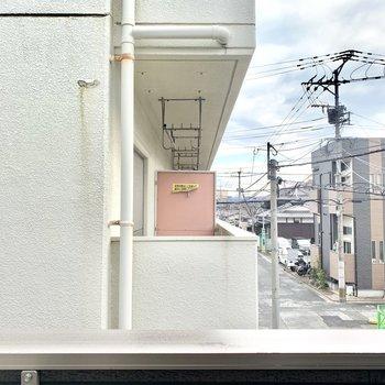 眺望はお隣の建物。圧迫感はありません◎
