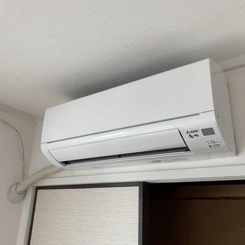 エアコンは1基新しく取り替えました