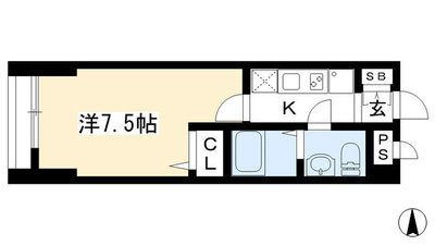Luxe智恵光院 の間取り