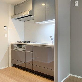 キッチンは奥まっていて、調理がしやすい!