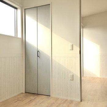 日当りもしっかり寝室やクローゼットとしても使えます。