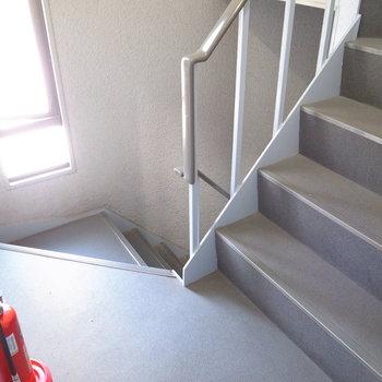 【共用部】お部屋までは階段で。きれいにお掃除されていました。