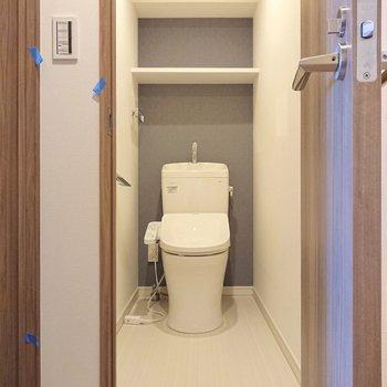ゆったりとしたトイレですね。