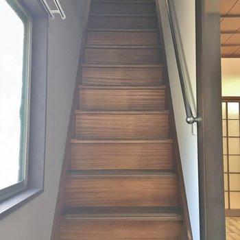 ちょっと急な階段を上って2階へ