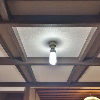 天井デザインが、いい味出してます