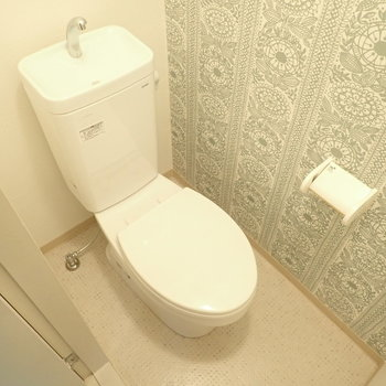 ウォシュレットはありませんが、きれいなトイレです。