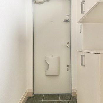 玄関は標準サイズです。履き脱ぎには困りません!