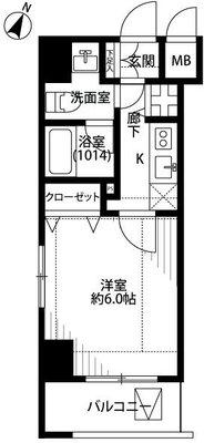 プレール・ドゥーク東京NORTHⅡ の間取り