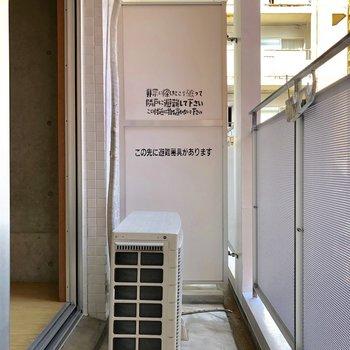 バルコニーは普通です。(※写真は3階の同間取り別部屋のものです)