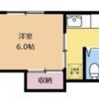 サニタリーがまとまっている分お部屋のスペースが確保されていますよ。