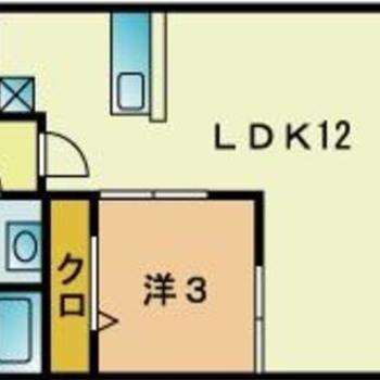 寝室をしっかり分けられる間取り。
