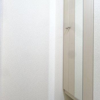 玄関にはシューズボックスも完備です。(※写真は2階の反転間取り別部屋のものです)