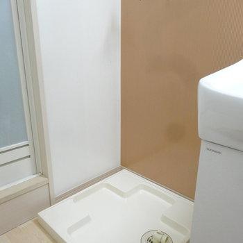 洗濯パンも水回りに。(※写真は2階の反転間取り別部屋のものです)