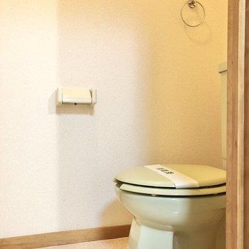 トイレもグリーンです