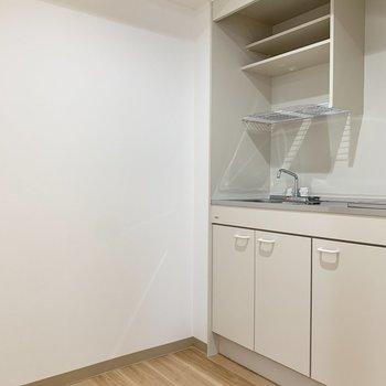 キッチンは作業がしやすい広さ。