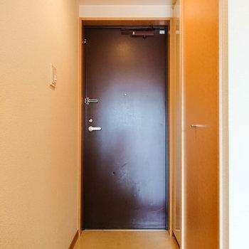 玄関の広さは普通です。