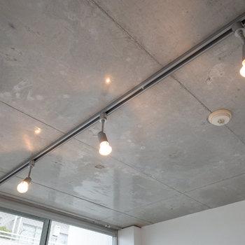 【LDK】コンクリートを柔らかに演出するライティングレールです。