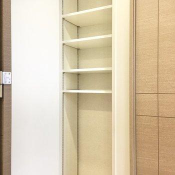 廊下】ボックスを使ってさらに収納力アップを!