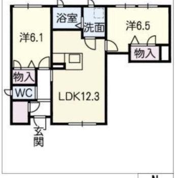 2LDK のお部屋です。