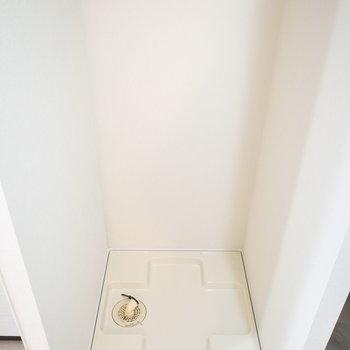 洗濯パンもしっかり室内に設けられています。