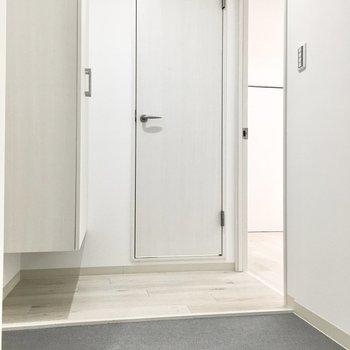 玄関も脱ぎ履きに十分な広さ。※写真は2階同間取り・別部屋のものです