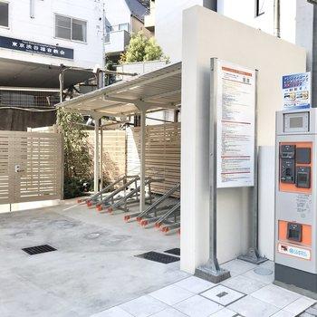 敷地内に有料の駐輪場があります