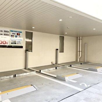 駐輪場は3台。お車のお客さんも安心です
