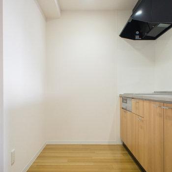 ゆったりキッチンスペース(※写真は5階の反転間取り別部屋のものです)