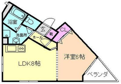 OZ-COURT上野東の間取り