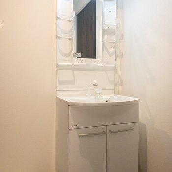洗面所もちょうどいい大きさですね!