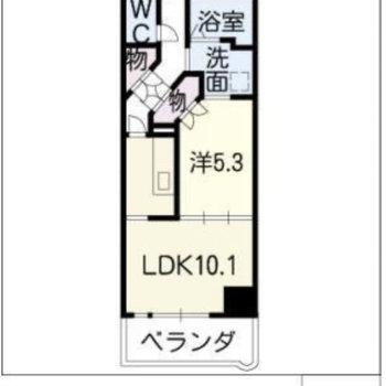 ちょっぴりゆったりした一人暮らしができるお部屋です。