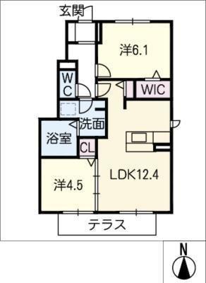 仮)JA賃貸 中川区新家三丁目 の間取り