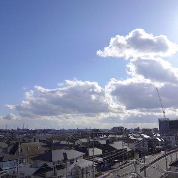 5階からの眺望なので、こんな素晴らしい景色が見れます。