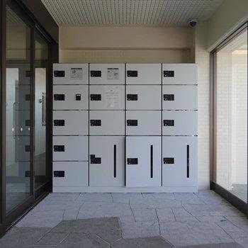 AL横には宅配ボックスがあります。